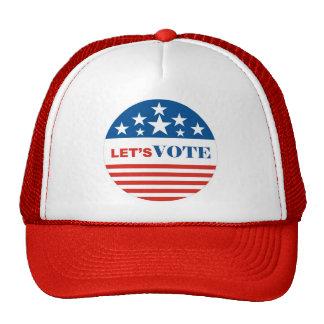 vote mesh hat