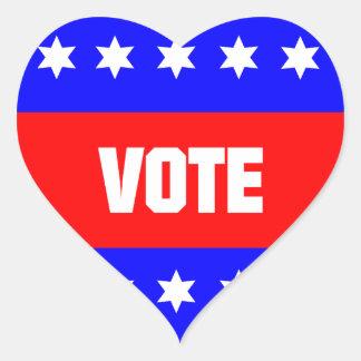 Vote Heart Sticker