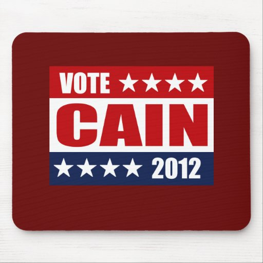 VOTE HERMAN CAIN 2012 - MOUSE PAD