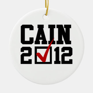 VOTE HERMAN CAIN 2012 CHRISTMAS TREE ORNAMENT
