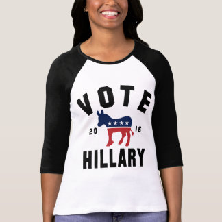 Vote Hillary 16 Womens Retro Rally Shirt