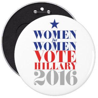 VOTE HILLARY 2016 6 INCH ROUND BUTTON