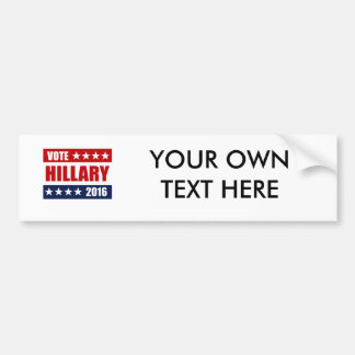 VOTE HILLARY 2016 BUMPER STICKER