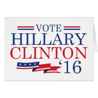 Vote Hillary 2016 Card