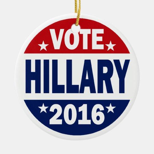 Vote Hillary 2016 Ceramic Ornament