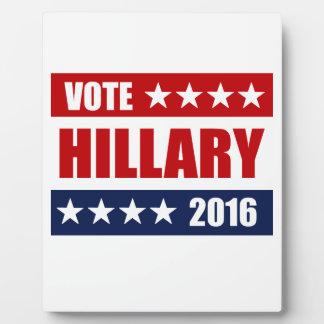 VOTE HILLARY 2016 PLAQUES