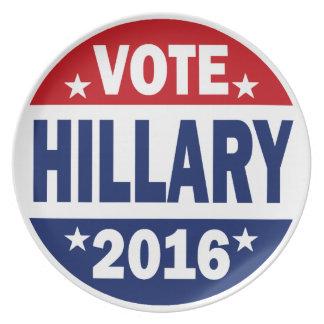 Vote Hillary 2016 Dinner Plates