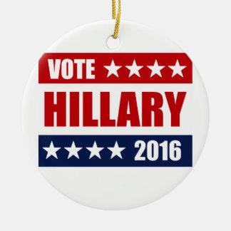 VOTE HILLARY 2016.png Ceramic Ornament
