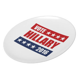 VOTE HILLARY 2016 png Dinner Plates