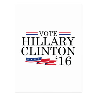 Vote Hillary 2016 Postcard