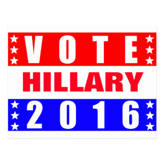 Vote Hillary 2016 Presidential Election Postcard