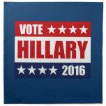 VOTE HILLARY 2016 PRINTED NAPKINS