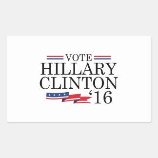 Vote Hillary 2016 Rectangular Sticker