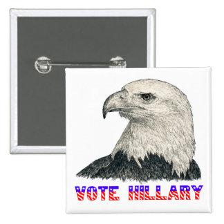 Vote Hillary Button