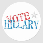 Vote Hillary Classic Round Sticker
