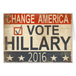 Vote Hillary Clinton 2016 Election Greetings Card