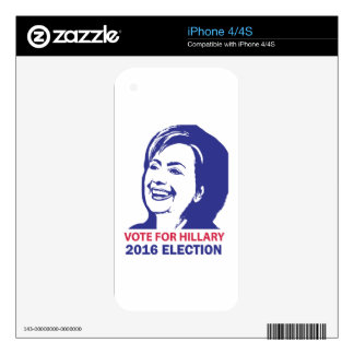 vote hillary clinton 2016 iPhone 4 skins