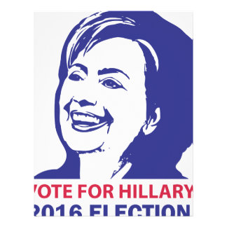vote hillary clinton 2016 letterhead