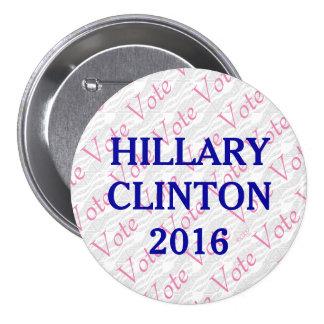 Vote Hillary Clinton 2016 Pinback Button