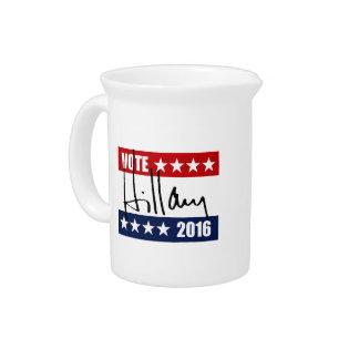 VOTE HILLARY CLINTON 2016 PITCHERS