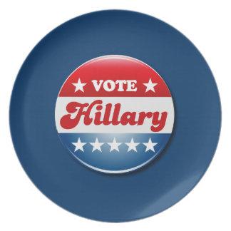 VOTE HILLARY CLINTON 2016 PLATE