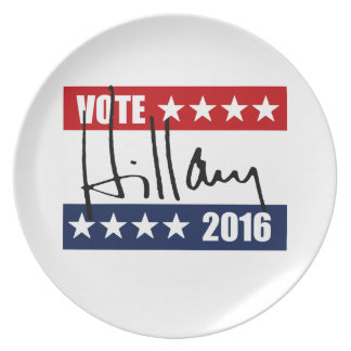 VOTE HILLARY CLINTON 2016 PARTY PLATE
