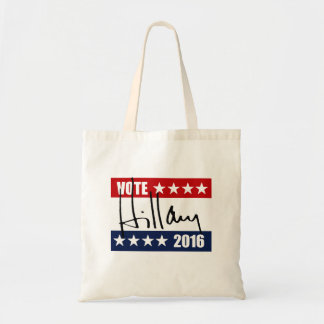 VOTE HILLARY CLINTON 2016.png Tote Bags