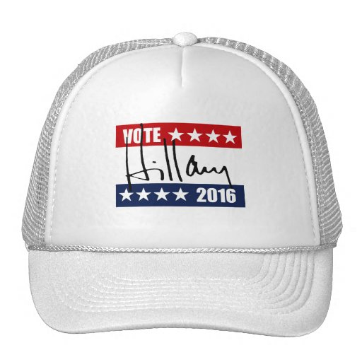 VOTE HILLARY CLINTON 2016.png Mesh Hats