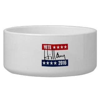 VOTE HILLARY CLINTON 2016.png Dog Food Bowls