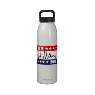 VOTE HILLARY CLINTON 2016.png Reusable Water Bottles