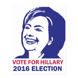 vote hillary clinton 2016 postcard
