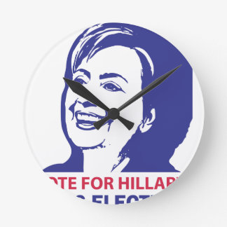 vote hillary clinton 2016 round clock