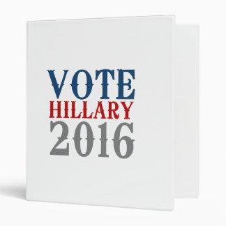 VOTE HILLARY CLINTON 2016 VINTAGE BINDERS