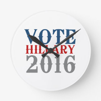 VOTE HILLARY CLINTON 2016 VINTAGE WALL CLOCKS