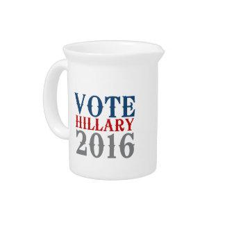VOTE HILLARY CLINTON 2016 VINTAGE PITCHERS