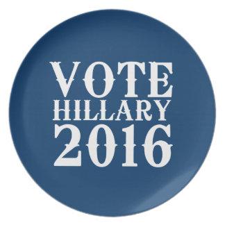 VOTE HILLARY CLINTON 2016 VINTAGE PLATE