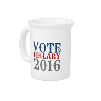 VOTE HILLARY CLINTON 2016 VINTAGE.png Drink Pitcher