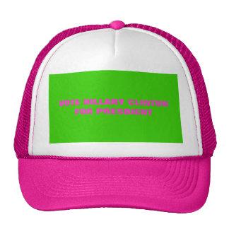 VOTE HILLARY CLINTON FOR PRESDIENT TRUCKER HAT