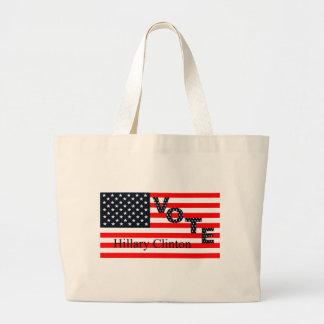 Vote Hillary Clinton for President 2016 Jumbo Tote Bag