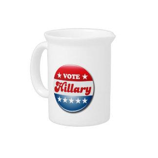 VOTE HILLARY CLINTON DRINK PITCHER