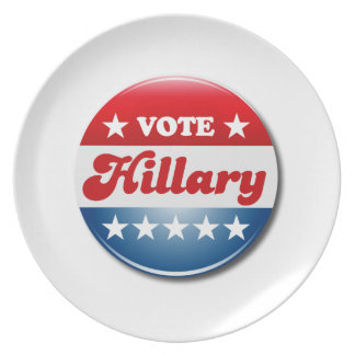 VOTE HILLARY CLINTON PLATES