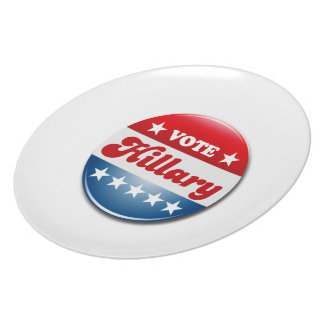 VOTE HILLARY CLINTON png Dinner Plates