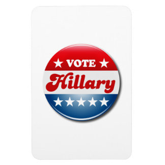 VOTE HILLARY CLINTON RECTANGULAR MAGNET