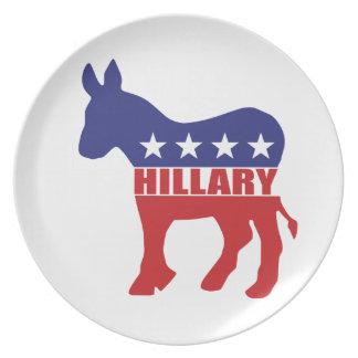 Vote Hillary Democrat Plate
