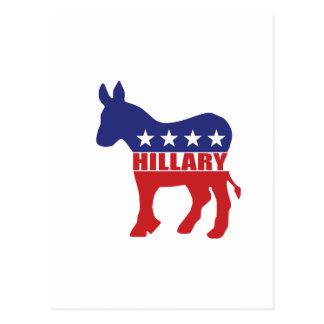 Vote Hillary Democrat Postcard