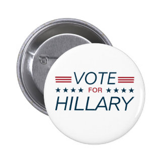 Vote Hillary for President 2016 Pinback Button