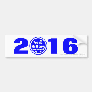 Vote Hillary President 2016 Bumper Sticker