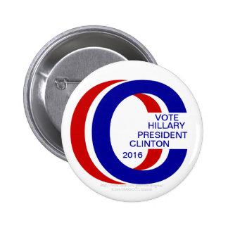 VOTE HILLARY PRESIDENT CLINTON 2016 Pinback Button