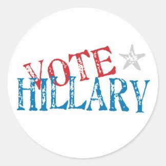 Vote Hillary Stickers