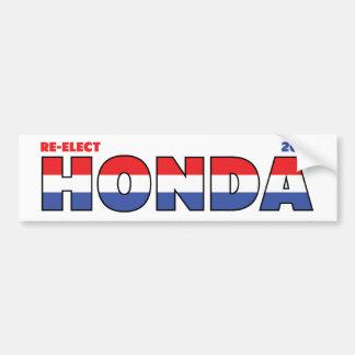 Vote Honda 2010 Elections Red White and Blue Car Bumper Sticker